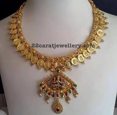 Lakshmi Necklace with 60grams Weight - Jewellery Designs