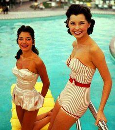 x  Beach Beauties in Las Vegas ♥ 1955