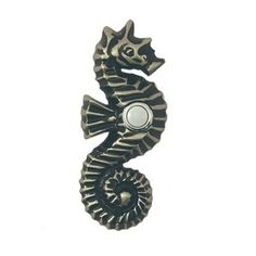 Waterwood Hardware WW151 Seahorse Doorbell Button and Cover - Knobs and Hardware