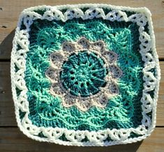 """Ravelry: Pizzazz - 12"""" Square pattern by Melinda Miller"""