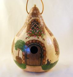 Country Charm gourd birdhouse cottage