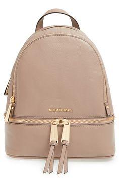 MICHAEL Michael Kors  Extra Small Rhea Zip  Leather Backpack  ff5c838bd7d69