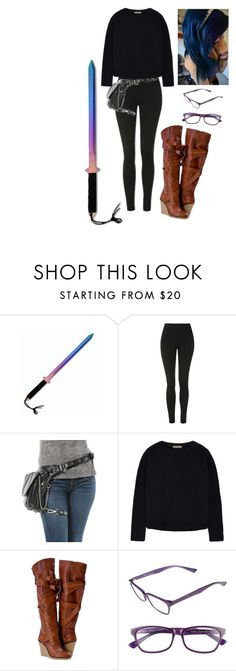 """""""Me//Minecraft Diaries"""" by chibiblue ❤ liked on Polyvore featuring Topshop, Tomas Maier and Corinne McCormack"""