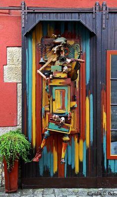 Sommerhausen, Bavaria, Germany wild doorway