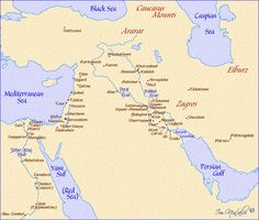 A printable map of the Middle East labeled with the names of each