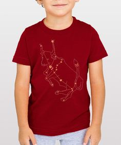 fa88f7f7415 Red Taurus Bull Shirt - animal star constellation print
