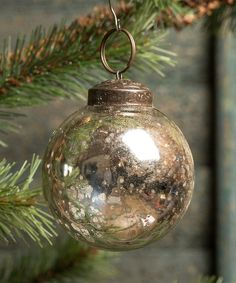 Another great find on #zulily! Silver Glass Ball Ornament - Set of 12 by Ragon House #zulilyfinds