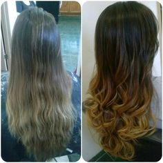 Before and After.. #MyWork #Ombre #LongHair