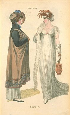 London Dresses, February 1806, Fashions of London & Paris