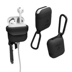 Water- and drop-proof, this Catalyst Case can keep AirPods safe across numerous types of outdoor adventure. Made from soft silicone, the case also offers easy access to the Lightning port, and even has a detachable carabiner so users can hook it up. Catalyst Case, Top Tech Gifts, Waterproof Headphones, Air Pods, Airpod Case, Army Green, Bluetooth, Apple, Cool Stuff