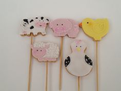 Biscoitos decorados tema Fazendinha,