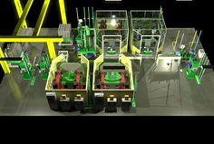 Welding factory (spot welding and welding robot)