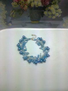 Bracelet Fringes bracelet Something blue by CristinaMyCrochet, $12.00