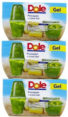 Dole Fruit Bowls Pineapple in Lime Gel 43 oz 3 pk ** You can get additional details at the image link.