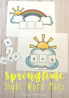 FREE SPring CVC Words for Kindergarten Activity - Help kids practice CVC Words for Kindergarten with this free printable spring activity to help students learn these key sight words! Free Worksheets For Kids, Free Kindergarten Worksheets, Printable Worksheets, Free Printables, Subtraction Kindergarten, Math Crafts, Cvc Words, Spring Activities, Phonics