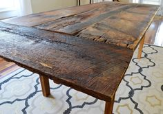 724 South House: From Farmhouse to Our House: Dining Room Table