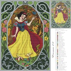Princess Snow White cross stitch