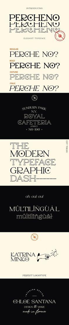 Percheno Elegant/Classy Font #star #minimalfont #classy #logofont #invitation #necklase #posh #contemporary #italian #weddingfont #fashionfont #ring #elegant #WeddingDesign #clean #dramaticquote #romanticfont #HipsterFont #elegant Modern Typeface, Modern Fonts, Vintage Typography, Typography Fonts, Typography Design, Classy Fonts, Hipster Fonts, Minimal Font, Romantic Fonts