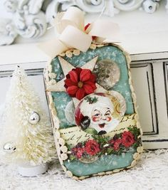 I know it is an ornament not a tag.. BUT it would make a LOVELY tag! :)