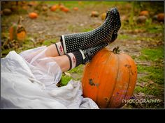 Pumpkin Patch Trash the Dress Session