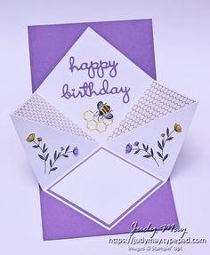 Bundle of 12 Fun & Fancy Fold Card Tutorials – Stampin' Up! Card Making Tips, Card Making Tutorials, Card Making Techniques, Making Ideas, Fun Fold Cards, Pop Up Cards, Folded Cards, Spinner Card, Shaped Cards