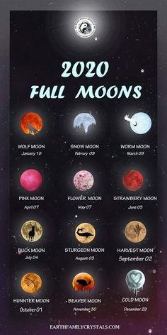 2020 full moons in 2020 2020 full moons in 2020 Wiccan Spell Book, Wiccan Witch, Wiccan Spells, Magick, Witch Rituals, Healing Spells, Healing Herbs, New Moon Rituals, Full Moon Ritual