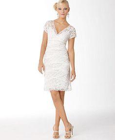 Rehersal Dinner Dress. $179 Marina Dress, Cap Sleeve Lace Cocktail Dress - Womens Fall Dress Trends - Macy's