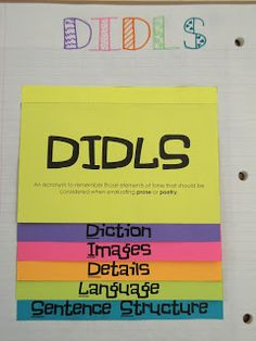 DIDLS - Analyzing Author's Craft -- Honors English -- My Adventures Teaching