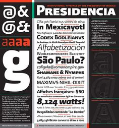 Presidencia typeface for the Mexican Federal Government