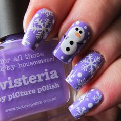 12 days of Christmas Nail Art Challenge - Inspired by a Christmas Carol/Song _Frosty