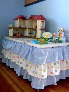 The Design Pages: Make a Ruffled Table Skirt