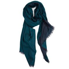 rag & bone 'Dagger' Wool Jacquard Scarf ($175) ❤ liked on Polyvore featuring accessories, scarves, deep teal, woolen shawl, rag & bone, woven scarves, teal shawl and teal scarves