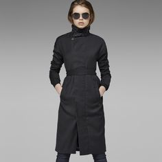 G-Star RAW   Women   Jackets-coats   Cocoon Minor Wool Relax Trench , Black