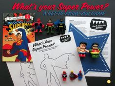 Whats Your SuperPower Get to Know You game. Fun Ice breaker for adults or teenagers!