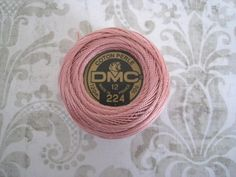 DMC 224  Very Light Shell Pink Size 12 Perle Cotton by NAKPUNAR, $2.49