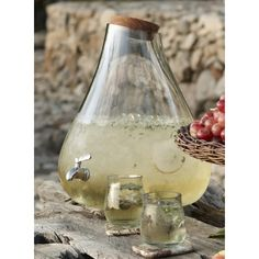 Roost Recycled Glass Bubble Beverage Dispenser