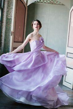purple wedding dress Sareh Nouri 2015