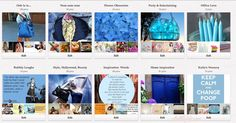 Theme your pinterest boards! Blue