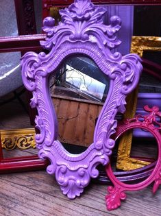 Magnificent Upcycled Ornate Mirrors in Pink/Lavender  The post  Upcycled Ornate Mirrors in Pink/Lavender…  appeared first on  Mane Decorations . #DIYHomeDecorMirror