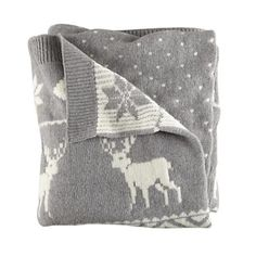 Land of Nod Moose and Snowflake Throw Blanket. For kids but I would totally use it. :)