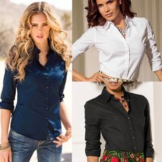 Cheap office shirt women, Buy Quality women sexy blouses directly from China sexy blouse Suppliers: Cotton Long Sleeve Office Shirt Women 2017 Turn Down Collar Plus Size Women Sexy Blouses with Button Long Sleeve Chemisier Femme