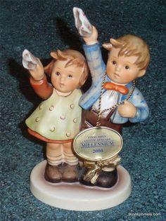 AUF WIEDERSEHEN Goebel Hummel Figurine #153/0 TMK8 FINAL ISSUE Millennium + Box!