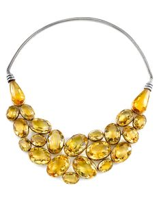 Suzanne Belperron gold and citrine necklace.