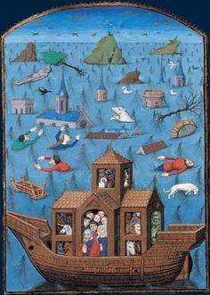 Le Déluge Saint Augustin, La Cité de Dieu. Maître de L'Échevinage. Rouen, troisième tiers du XVe siècle.