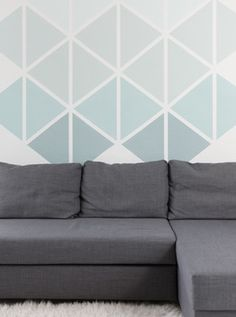 57 ideas for wall painting diy geometric Bedroom Wall Paint, Room Wall Painting, Geometric Decor, Geometric Wall, Wall Painting, Remodel Bedroom, Diy Wall Painting, Wall Design, New Room