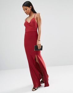 Pin for Later: These Bridesmaid Dresses Aren't Just Gorgeous — They're Also Under $100  Club L Slinky Wrap Over Maxi Dress with Cross Back ($36)