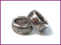 Morgan Silver Dollar Coin Ring 'eagle' Silver Handmade In Sizes