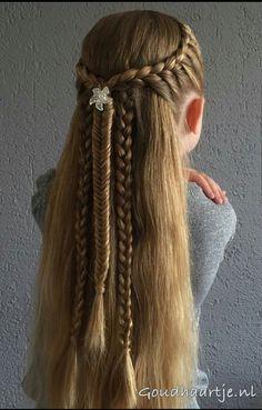 Braids Peinados Fiesta 67 Ideas in 2020 Teenage Hairstyles, Kids Braided Hairstyles, Little Girl Hairstyles, Diy Hairstyles, Hairstyle Braid, Medieval Hairstyles, Natural Hair Styles, Long Hair Styles, Pinterest Hair