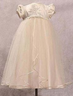 great idea  Redesigned Wedding dresses to christening gowns!