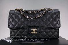 bb71002394666b Timeless Luxuries - CHANEL Black Caviar Classic Double Flap Bag Gold Hw